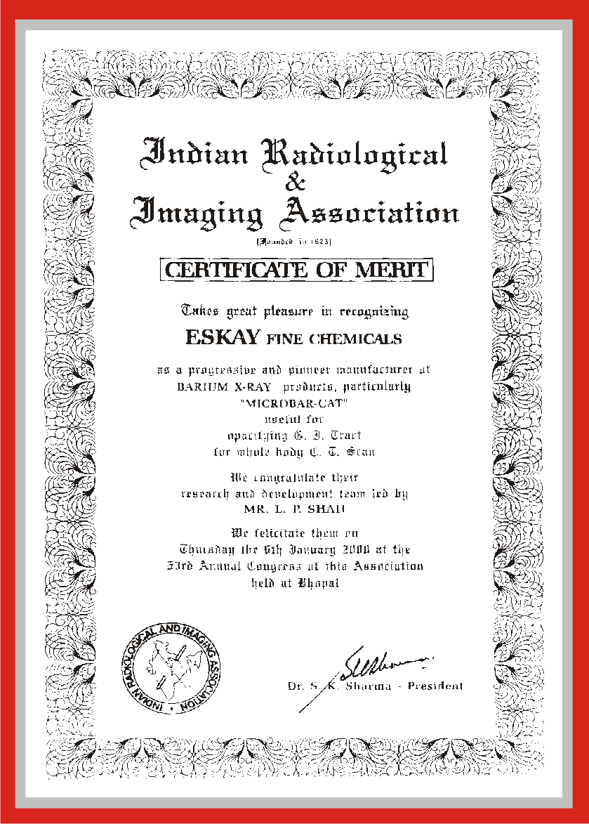 Certificates who gmp certification for eskay fine chemicals microbar cat xflitez Image collections